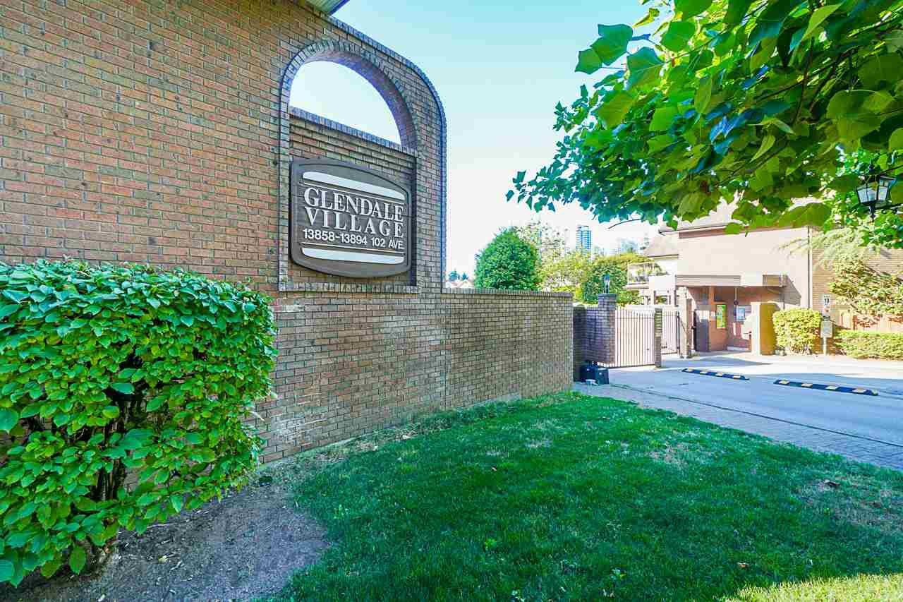 "Main Photo: 101 13858 102 Avenue in Surrey: Whalley Townhouse for sale in ""Glendale Village"" (North Surrey)  : MLS®# R2491082"