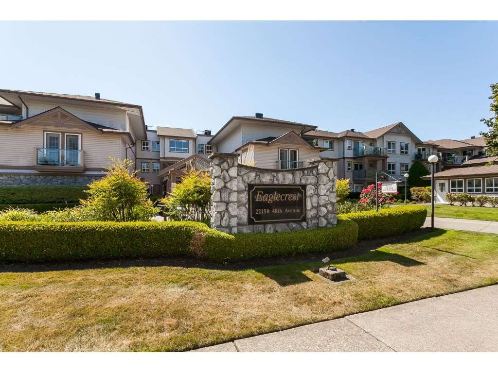 "Main Photo: 319 22150 48 Avenue in Langley: Murrayville Condo for sale in ""Eaglecrest"" : MLS®# R2494337"