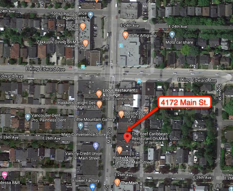 Main Photo: 4172 MAIN Street in Vancouver: Main Business for sale (Vancouver East)  : MLS®# C8032431