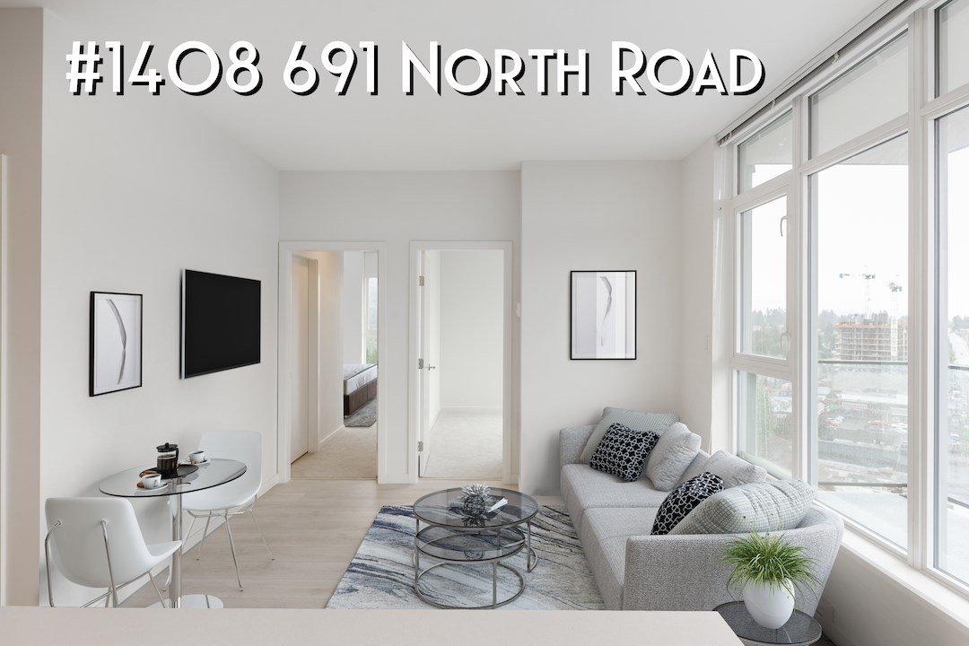 "Main Photo: 1408 691 NORTH Road in Coquitlam: Central Coquitlam Condo for sale in ""Burquitlam Capital"" : MLS®# R2408335"