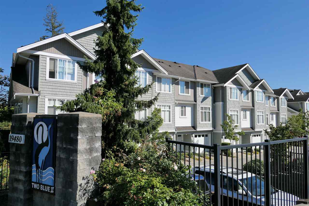 "Main Photo: 66 19480 66 Avenue in Surrey: Clayton Townhouse for sale in ""Two Blue II"" (Cloverdale)  : MLS®# R2497033"