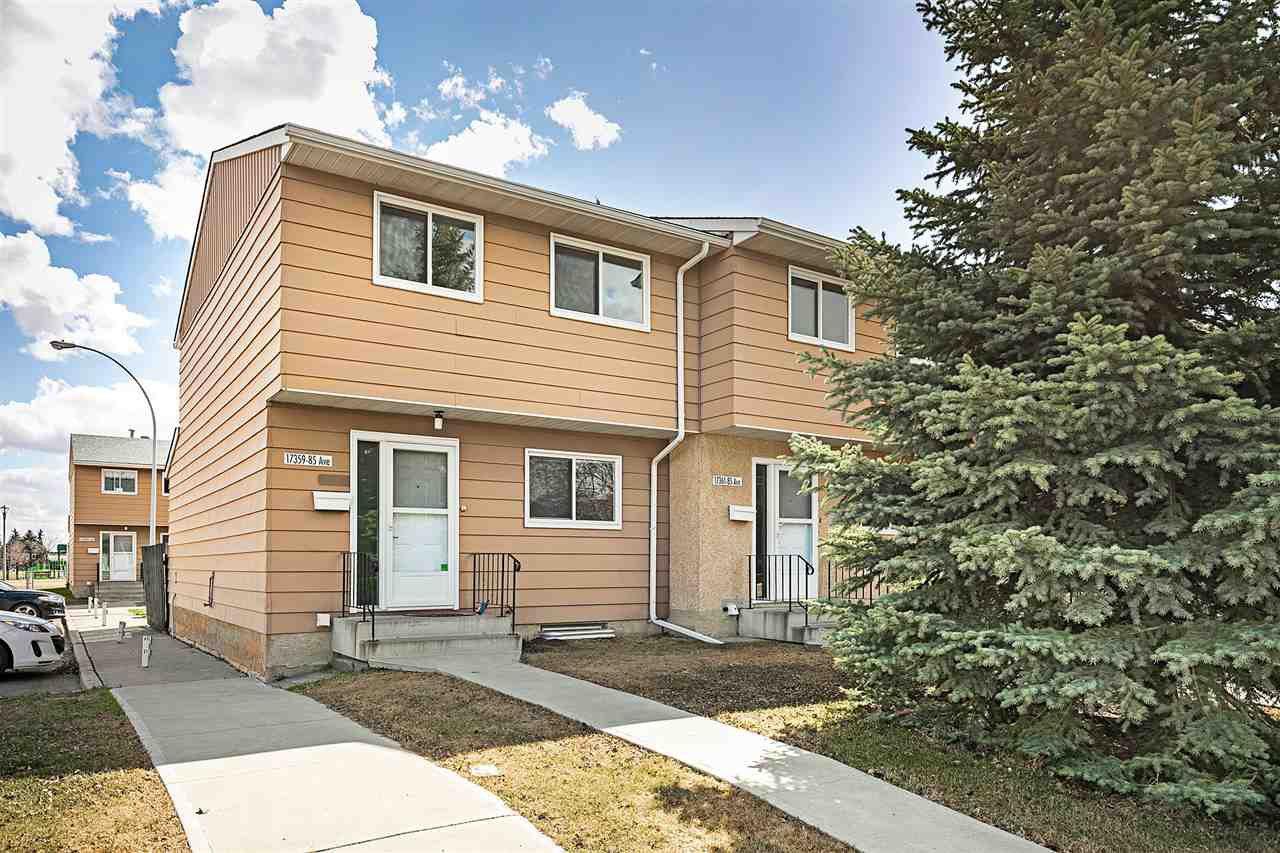 Main Photo: 17359 85 Avenue in Edmonton: Zone 20 Townhouse for sale : MLS®# E4196122