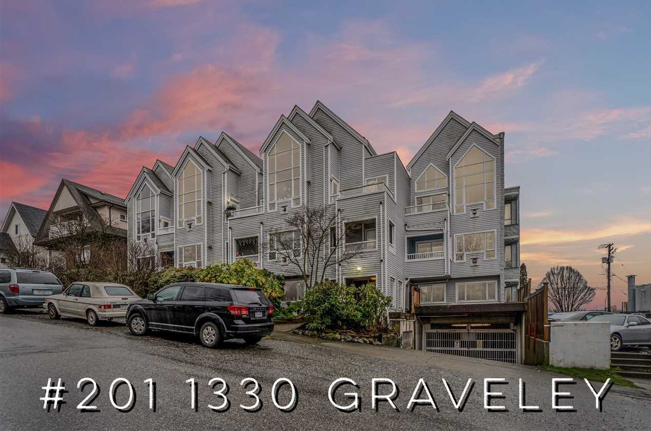 """Main Photo: 201 1330 GRAVELEY Street in Vancouver: Grandview Woodland Condo for sale in """"Hampton Court"""" (Vancouver East)  : MLS®# R2466394"""