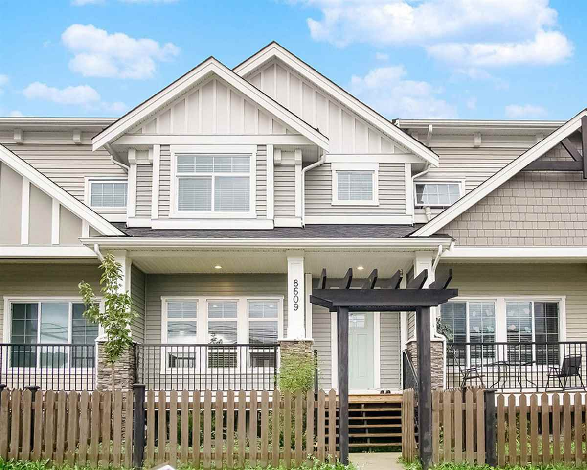 "Main Photo: 8609 CEDAR Street in Mission: Mission BC Condo for sale in ""Cedar Valley Rowhomes"" : MLS®# R2502855"