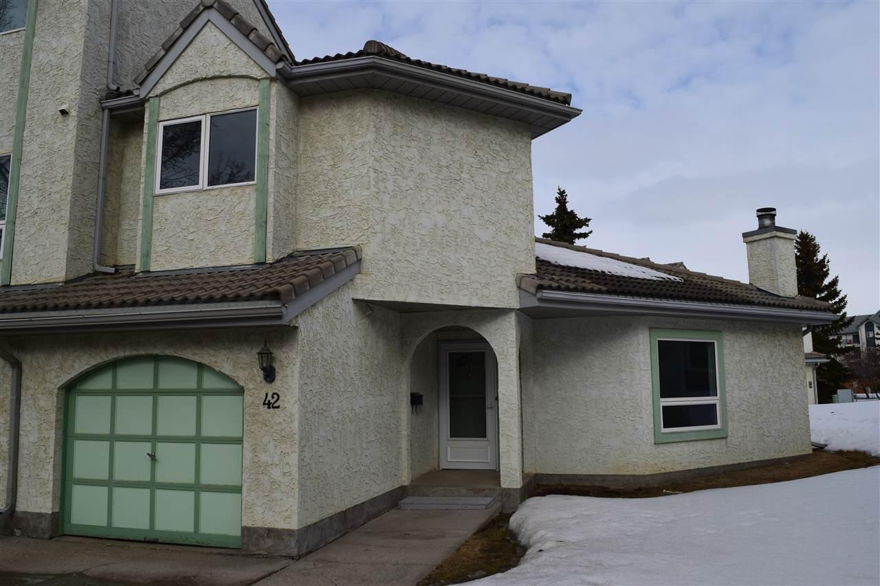 Main Photo: 42 9520 174 Street in Edmonton: Zone 20 Townhouse for sale : MLS®# E4192629
