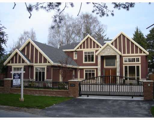 Main Photo: 9780 GILBERT Road in Richmond: Broadmoor House for sale : MLS®# V698274