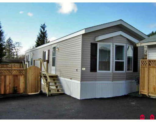 Main Photo: 143 10221 WILSON Road in Mission: Stave Falls Manufactured Home for sale : MLS®# F2806563