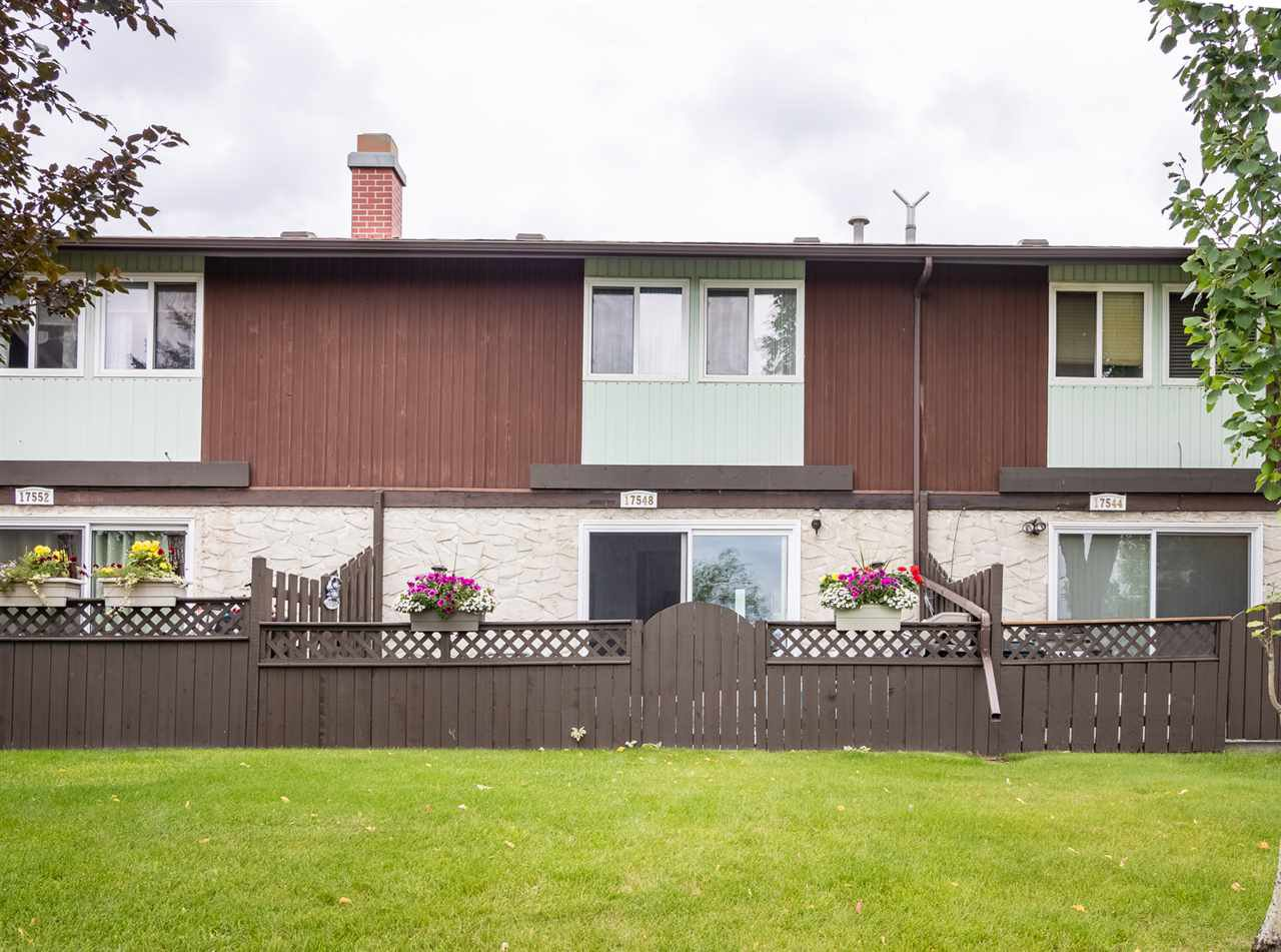 Main Photo: 17548 76 Avenue in Edmonton: Zone 20 Townhouse for sale : MLS®# E4169428