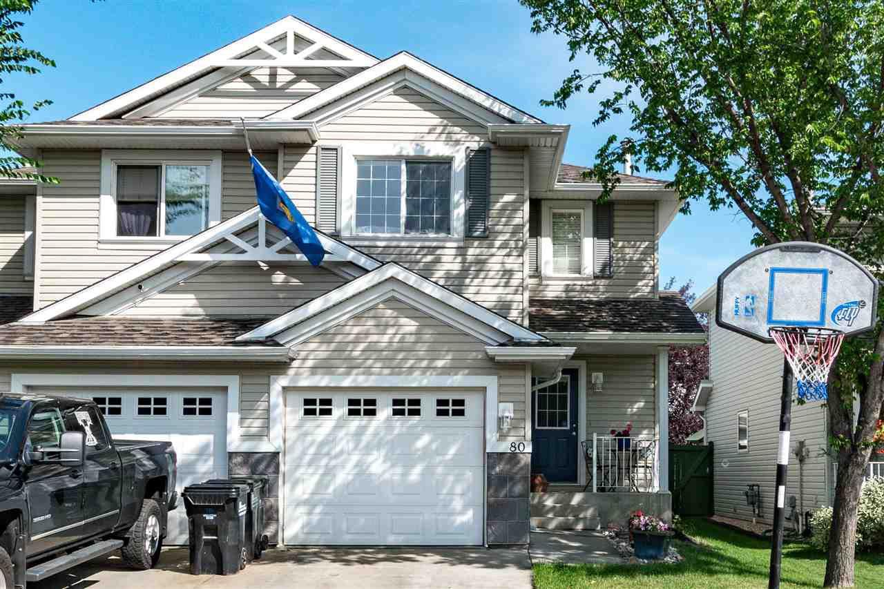 Main Photo: 80 115 Chestermere Drive: Sherwood Park House Half Duplex for sale : MLS®# E4209793