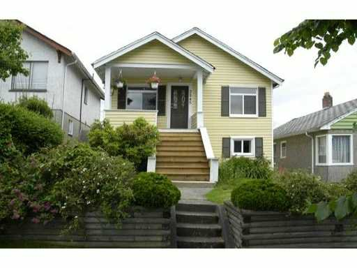 Main Photo: 3245 E GEORGIA ST in Vancouver: Renfrew VE House for sale (Vancouver East)  : MLS®# V895577