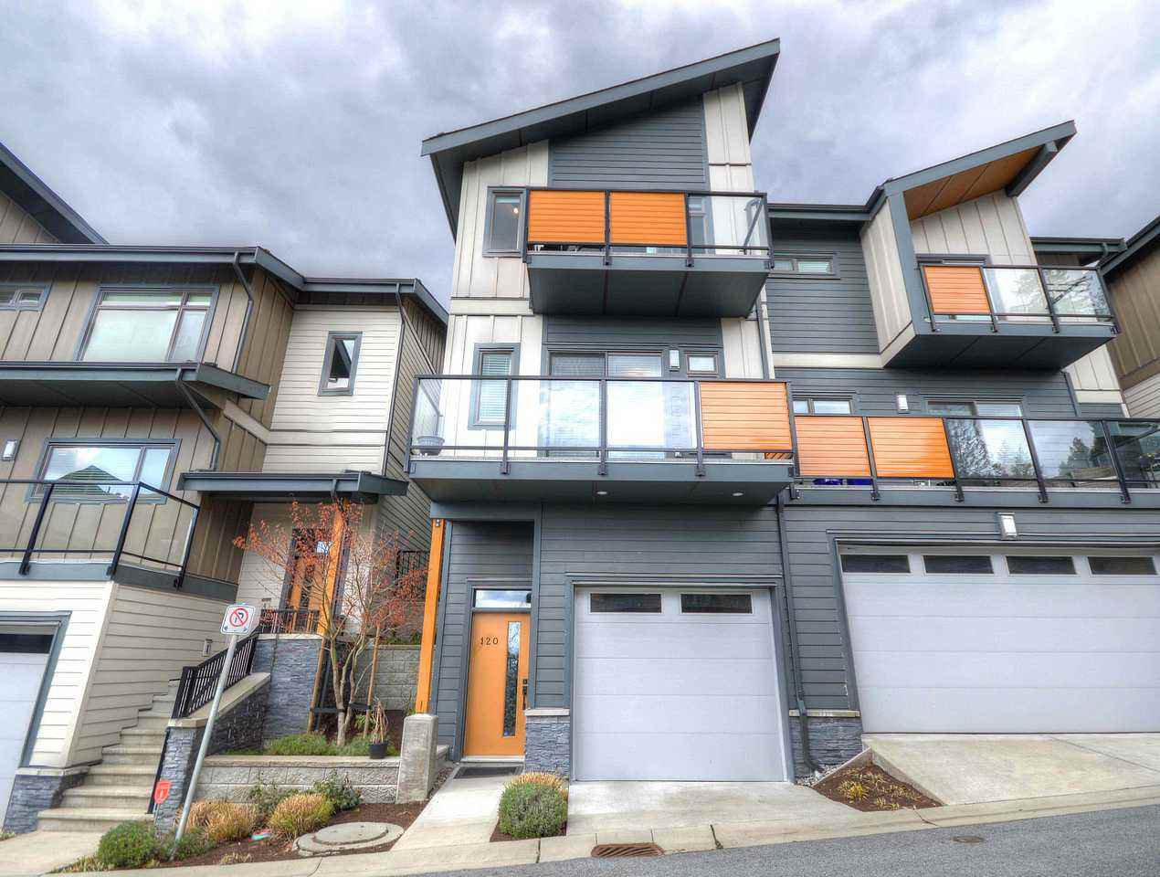 Main Photo: 120 3525 CHANDLER Street in Coquitlam: Burke Mountain Townhouse for sale : MLS®# R2449274