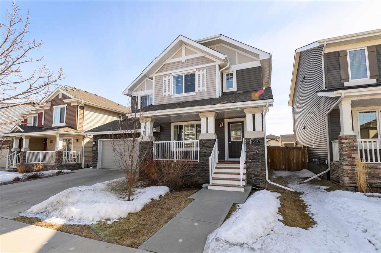 Main Photo: 1205 162 Street in Edmonton: Zone 56 House Half Duplex for sale : MLS®# E4194404