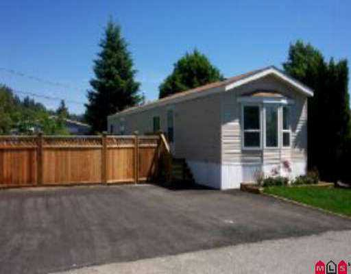 "Main Photo: 115 10221 WILSON ST in Mission: Stave Falls Manufactured Home for sale in ""Triple Creek Estates"" : MLS®# F2511934"