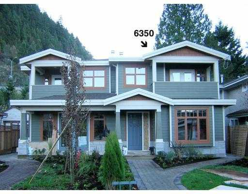 Main Photo: 6350 DOUGLAS Street in West_Vancouver: Horseshoe Bay WV 1/2 Duplex for sale (West Vancouver)  : MLS®# V675265