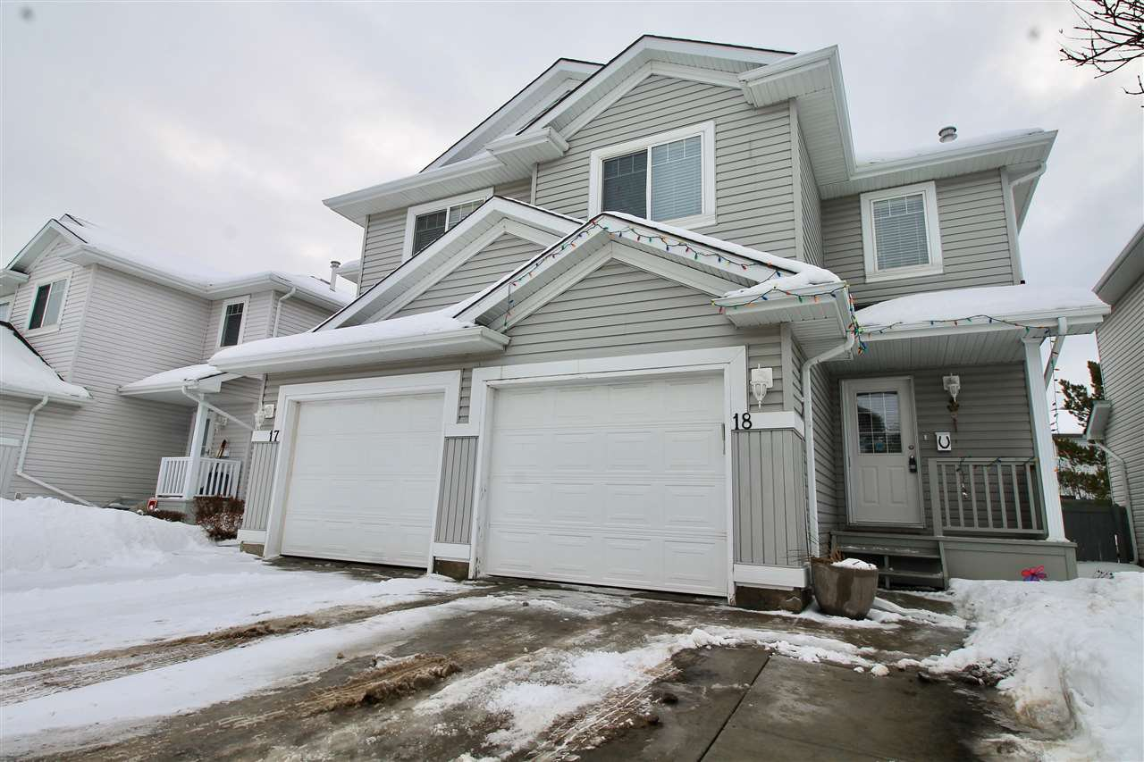 Main Photo: 18 13403 CUMBERLAND Road in Edmonton: Zone 27 House Half Duplex for sale : MLS®# E4186807