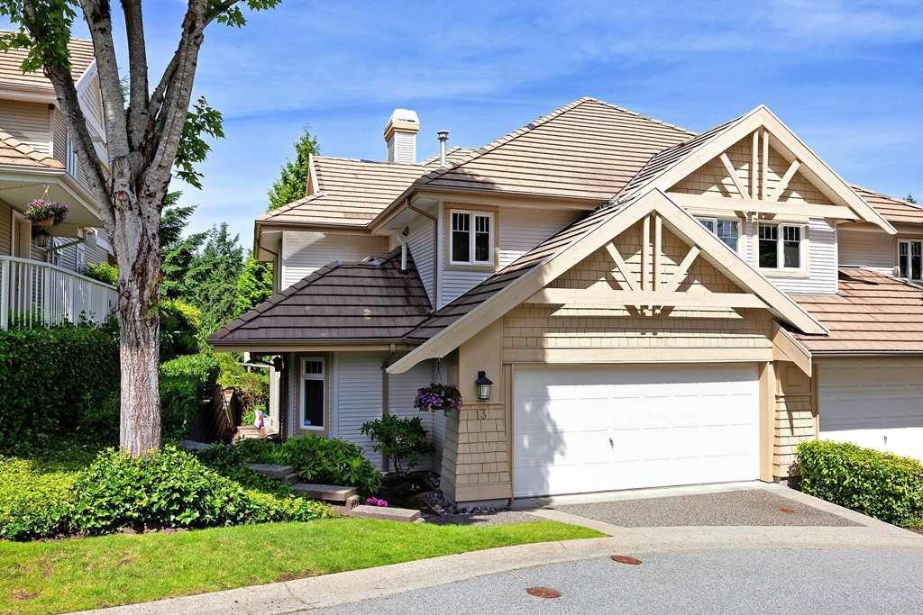 "Main Photo: 13 3405 PLATEAU Boulevard in Coquitlam: Westwood Plateau Townhouse for sale in ""PINNACLE RIDGE"" : MLS®# R2476821"