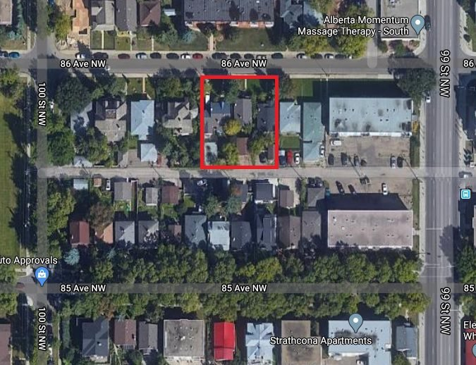 Photo 1: Photos: 9921/25/29 86 Avenue in Edmonton: Zone 15 Land Commercial for sale : MLS®# E4208146