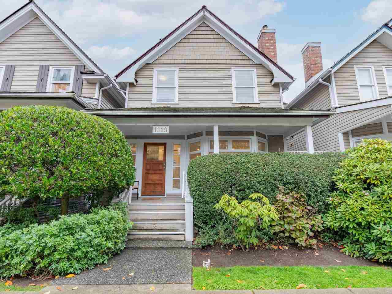 Main Photo: 1339 W 7TH Avenue in Vancouver: Fairview VW Townhouse for sale (Vancouver West)  : MLS®# R2517626