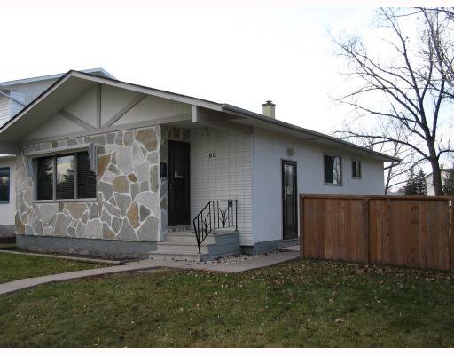 Main Photo: 60 HOUDE Drive in WINNIPEG: Fort Garry / Whyte Ridge / St Norbert Residential for sale (South Winnipeg)  : MLS®# 2919663