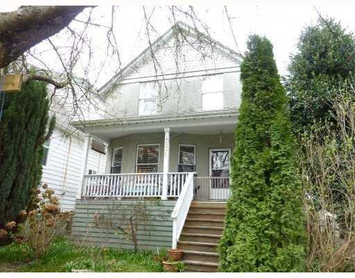 Main Photo: 4531 SOPHIA ST in Vancouver: House for sale : MLS®# V812124