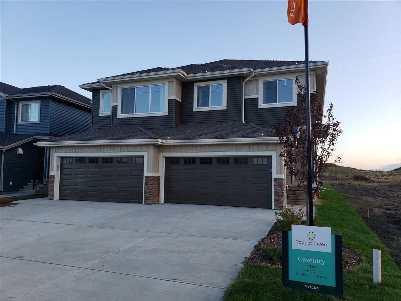 Main Photo: 5 CALEDON Crescent: Spruce Grove House Half Duplex for sale : MLS®# E4174117