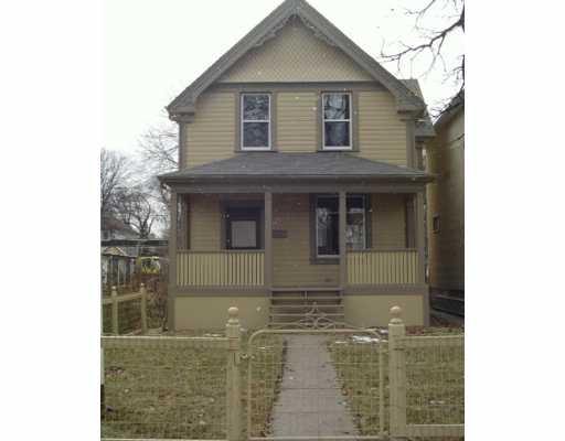 Main Photo: 122 LANSDOWNE Avenue in Winnipeg: North End Single Family Detached for sale (North West Winnipeg)  : MLS®# 2619304