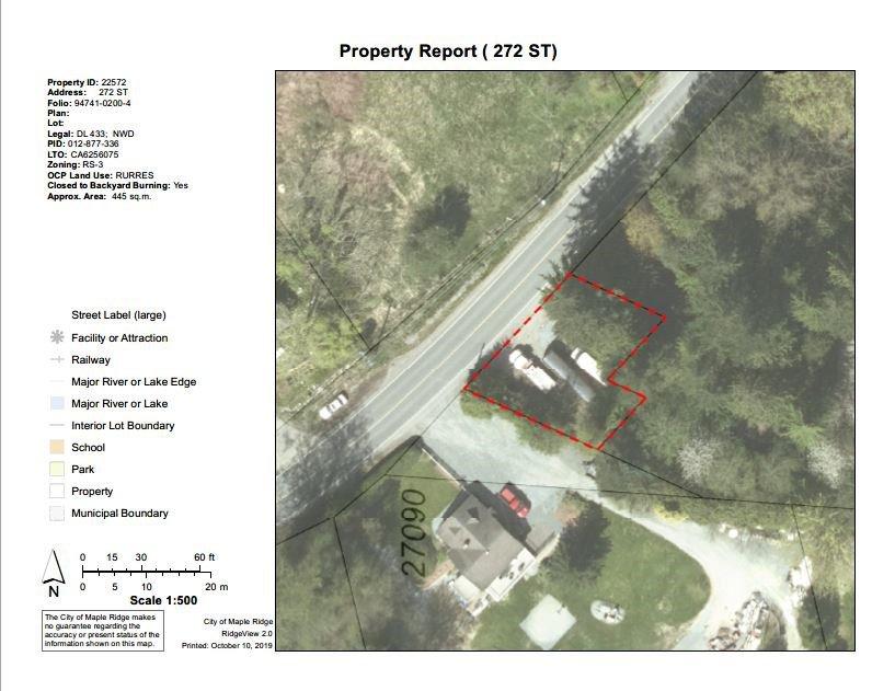 Main Photo: RIVER ROAD in Maple Ridge: Whonnock Land for sale : MLS®# R2390591