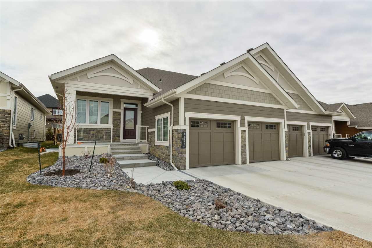Main Photo: 4209 KENNEDY Court in Edmonton: Zone 56 House Half Duplex for sale : MLS®# E4204529