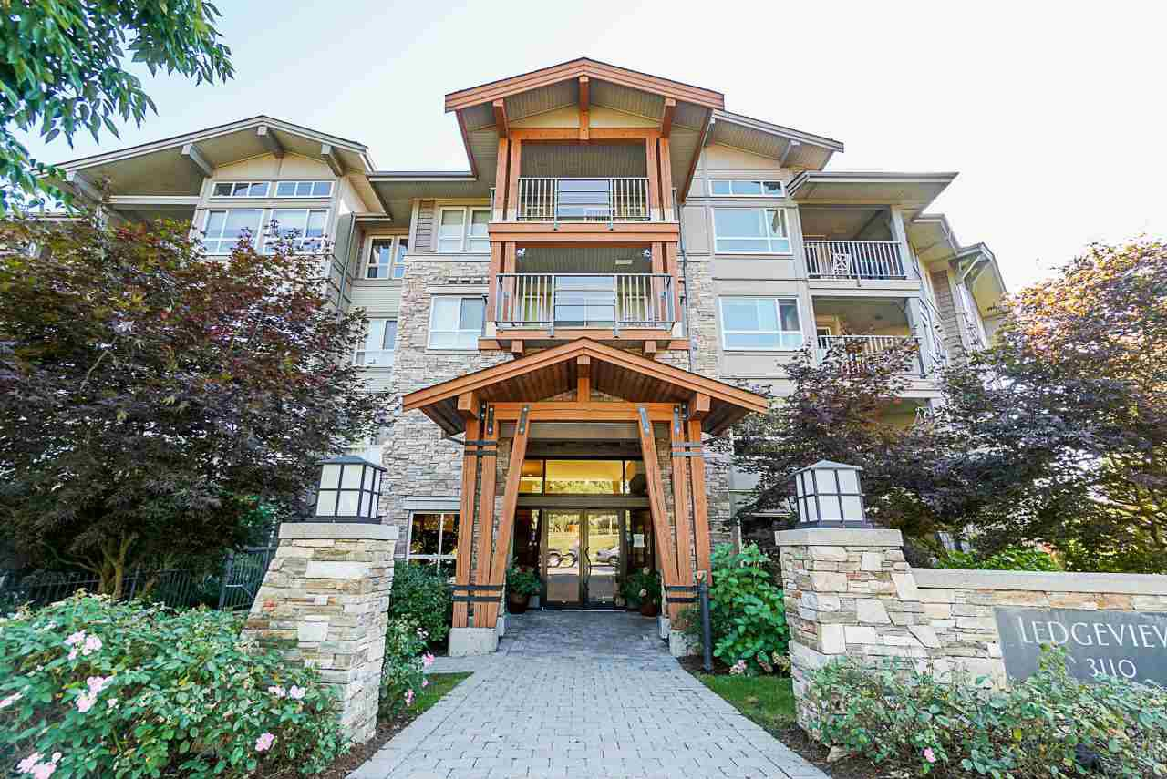 "Main Photo: 206 3110 DAYANEE SPRINGS Boulevard in Coquitlam: Westwood Plateau Condo for sale in ""LEDGEVIEW"" : MLS®# R2498071"
