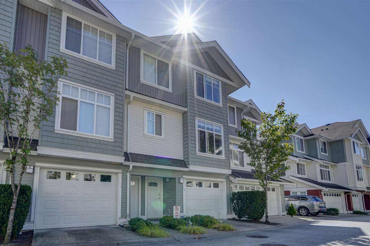 "Main Photo: 50 19480 66 Avenue in Surrey: Clayton Townhouse for sale in ""TWO BLUE II"" (Cloverdale)  : MLS®# R2490979"