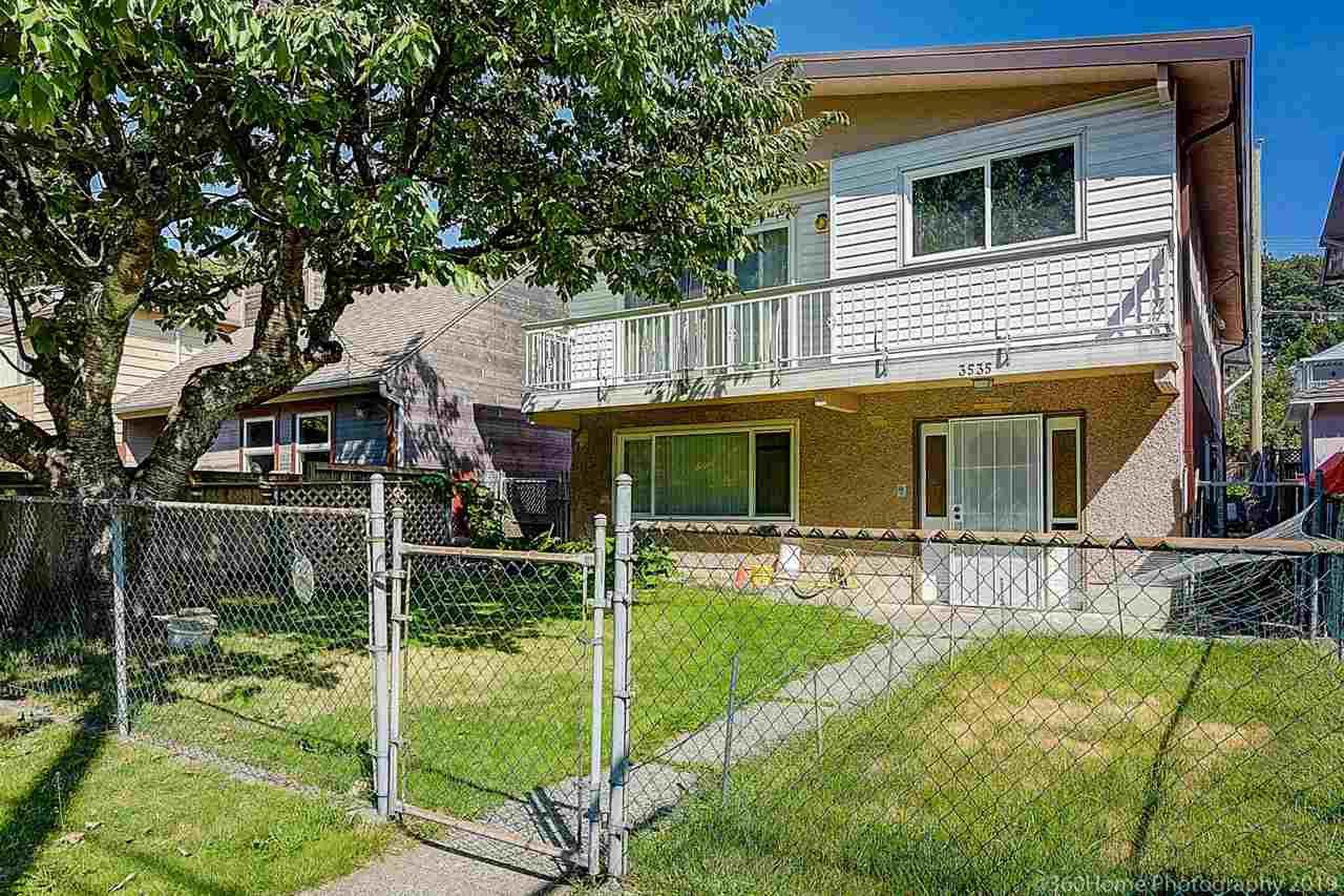 Main Photo: 3535 ADANAC Street in Vancouver: Renfrew VE House for sale (Vancouver East)  : MLS®# R2395341