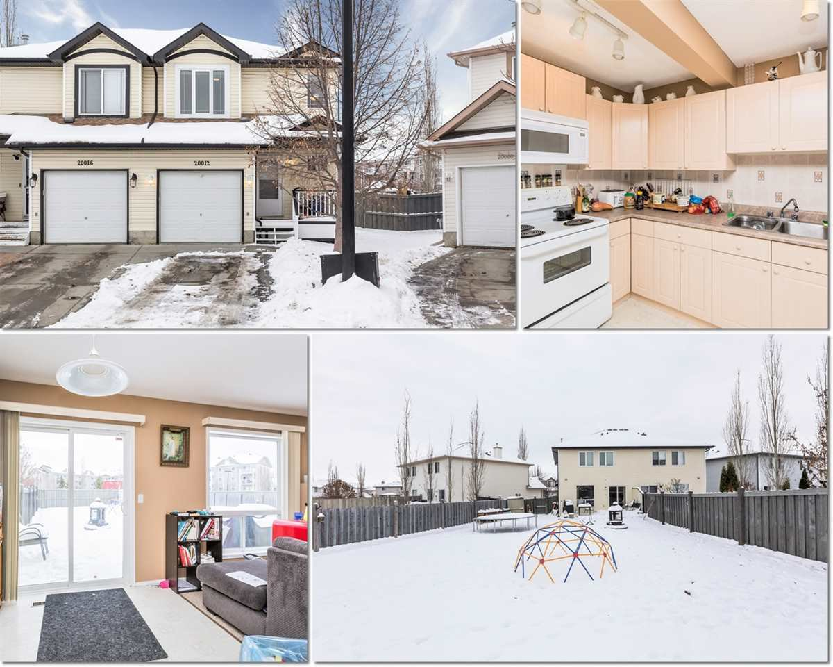 Main Photo: 20012 53A Avenue in Edmonton: Zone 58 House Half Duplex for sale : MLS®# E4222261