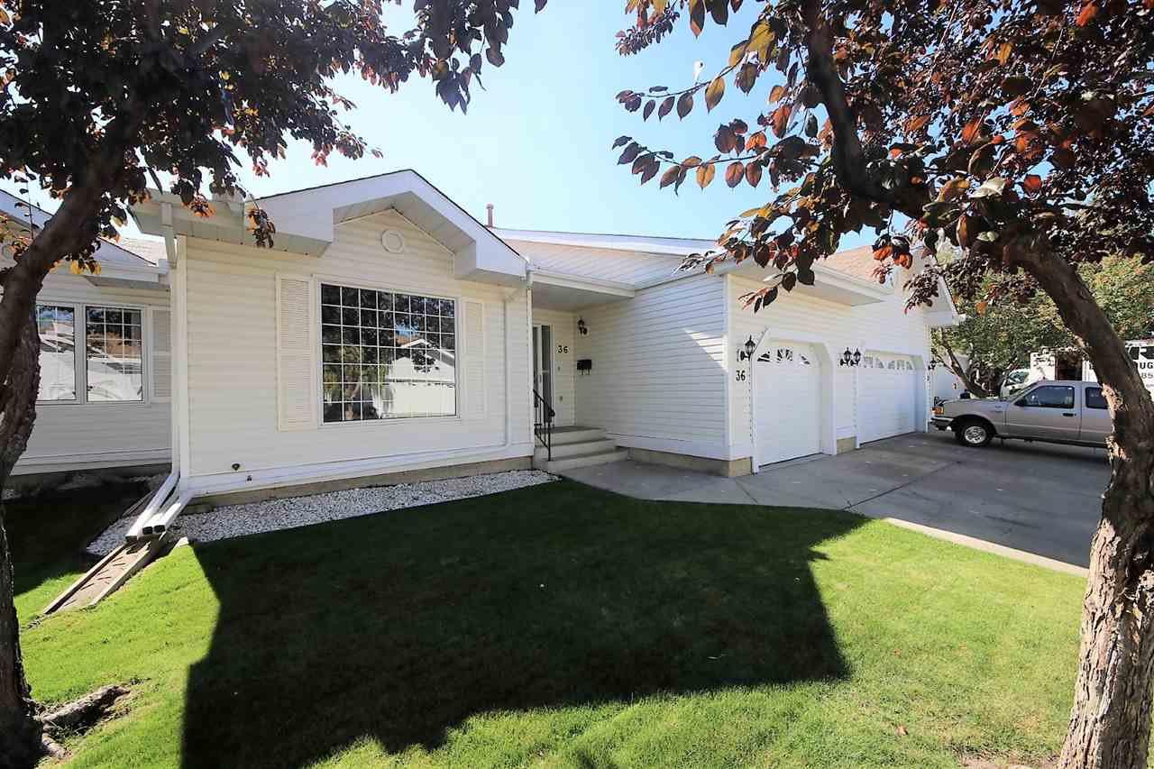 Main Photo: 36 9704 165 Street in Edmonton: Zone 22 House Half Duplex for sale : MLS®# E4173446