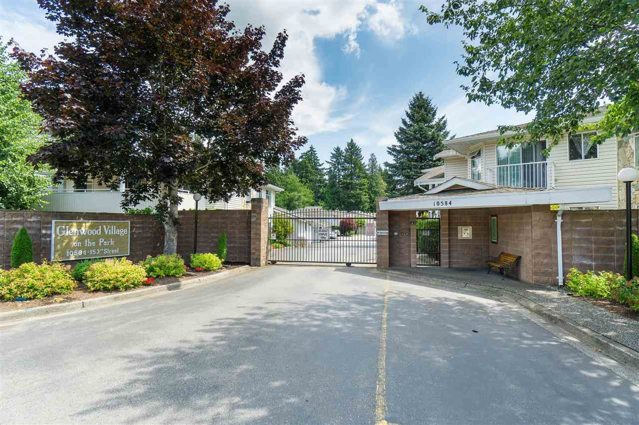 """Main Photo: 114 10584 153 Street in Surrey: Guildford Townhouse for sale in """"Glenwood Village"""" (North Surrey)  : MLS®# R2390526"""