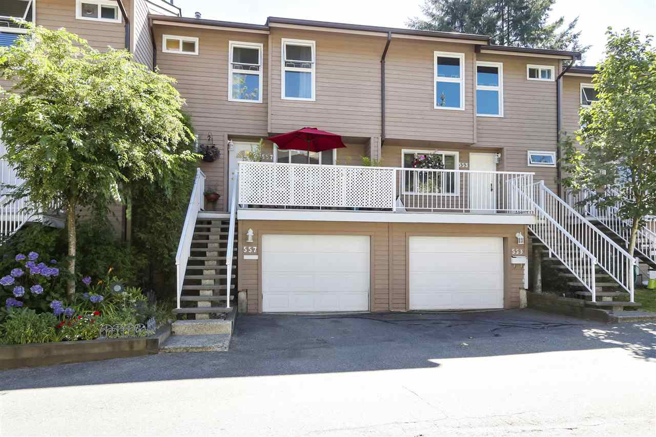 "Main Photo: 557 CARLSEN Place in Port Moody: North Shore Pt Moody Townhouse for sale in ""EAGLE POINT"" : MLS®# R2481494"