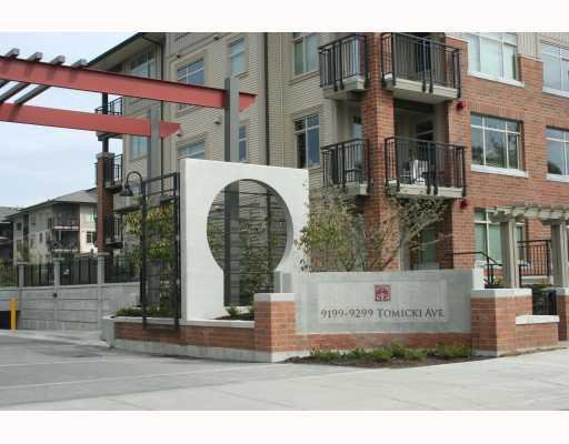 Main Photo: # 415 9199 TOMICKI AV in Richmond: Condo for sale : MLS®# V785513
