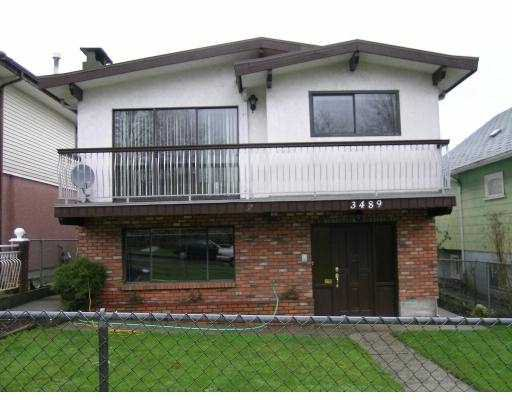 Main Photo: 3489 E 3RD Avenue in Vancouver: Renfrew VE House for sale (Vancouver East)  : MLS®# V683070