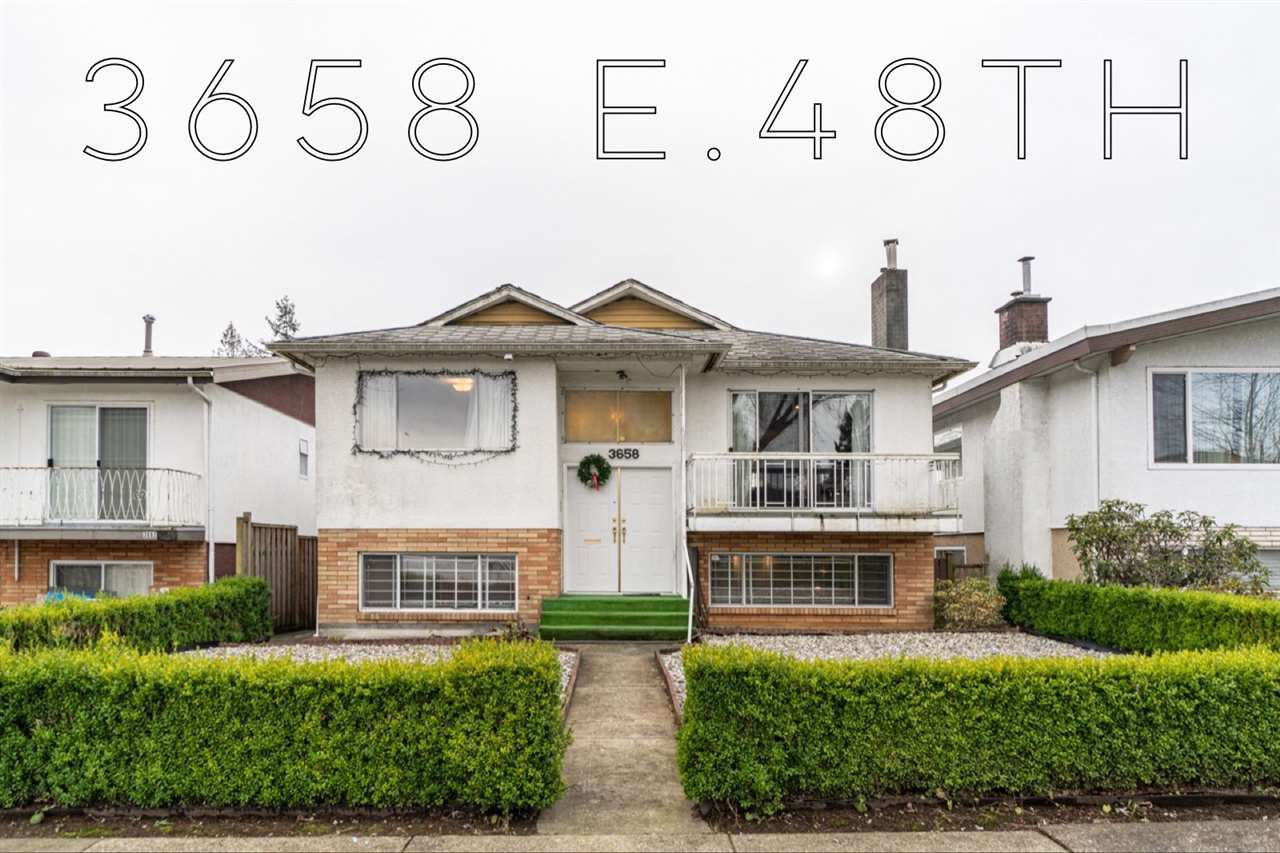 Main Photo: 3658 E 48TH Avenue in Vancouver: Killarney VE House for sale (Vancouver East)  : MLS®# R2428892