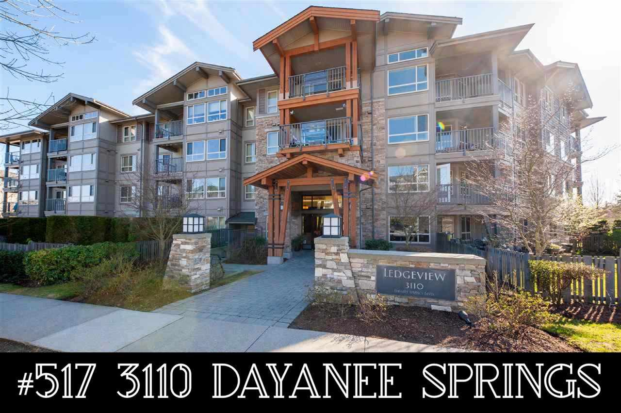 "Main Photo: 517 3110 DAYANEE SPRINGS Boulevard in Coquitlam: Westwood Plateau Condo for sale in ""Ledgeview"" : MLS®# R2454349"