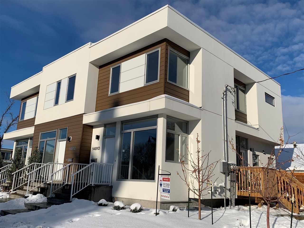 Main Photo: 14810 98 Avenue in Edmonton: Zone 10 Townhouse for sale : MLS®# E4221536