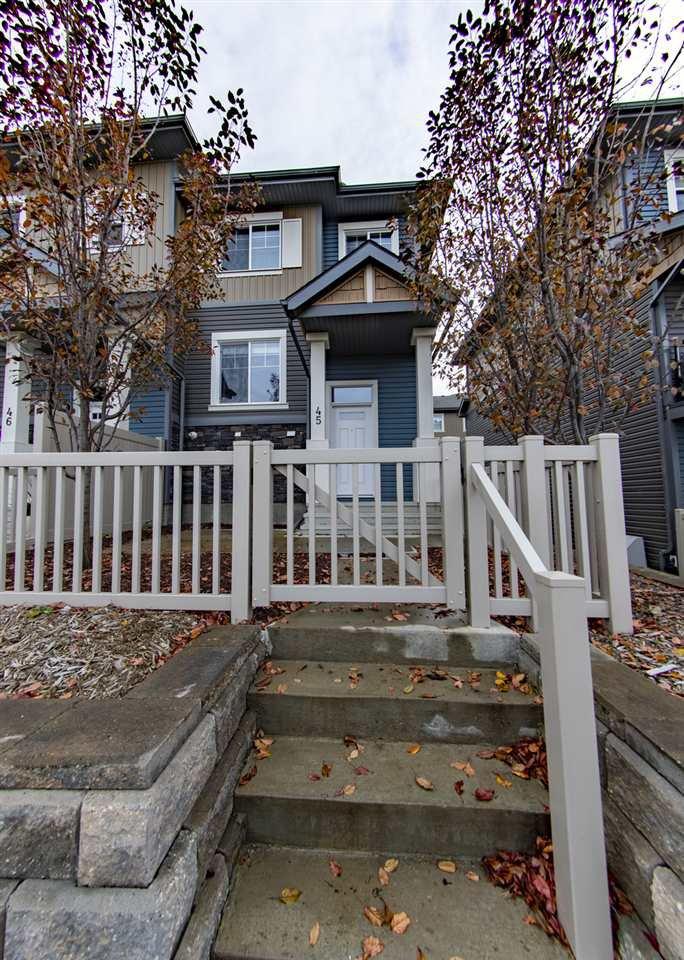 Main Photo: 45 1030 CHAPPELLE Boulevard in Edmonton: Zone 55 Townhouse for sale : MLS®# E4224991