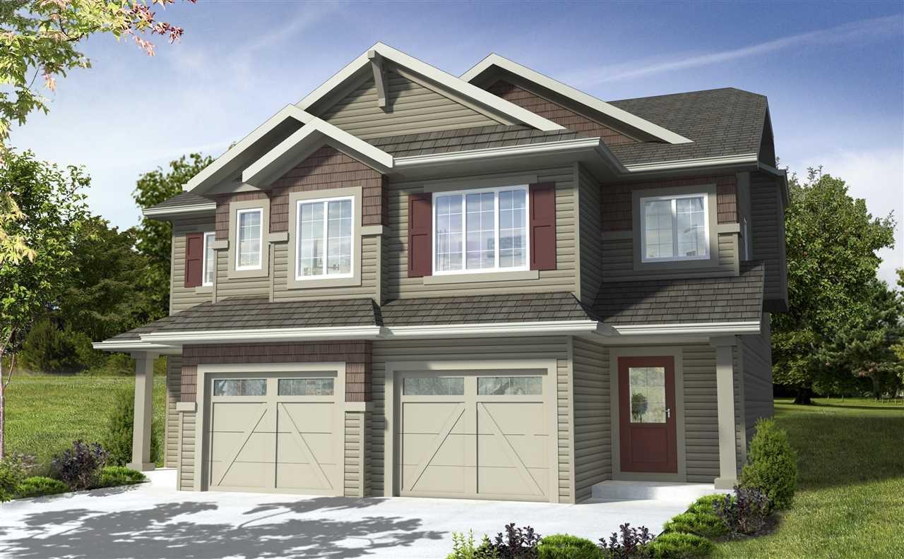 Main Photo: 7164 Edgemont Way in Edmonton: Zone 57 House Half Duplex for sale : MLS®# E4217372