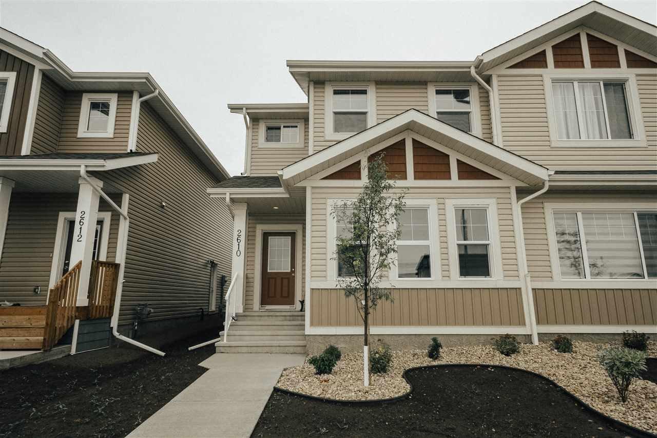 Main Photo: 2610 19A Avenue in Edmonton: Zone 30 House Half Duplex for sale : MLS®# E4171212