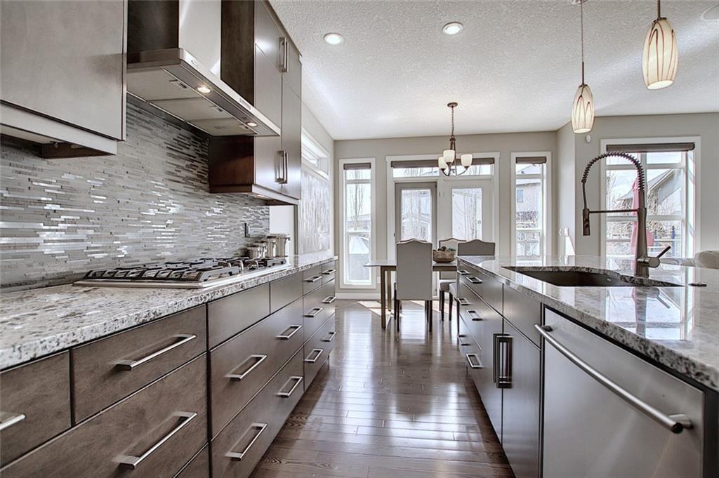 Many pot drawer upgrades and premium granite.