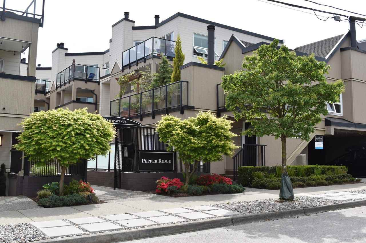 "Main Photo: 8 1350 W 6TH Avenue in Vancouver: Fairview VW Townhouse for sale in ""PEPPER RIDGE"" (Vancouver West)  : MLS®# R2459338"