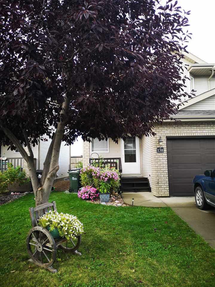 Main Photo: 138 155 CROCUS Crescent: Sherwood Park House Half Duplex for sale : MLS®# E4212750