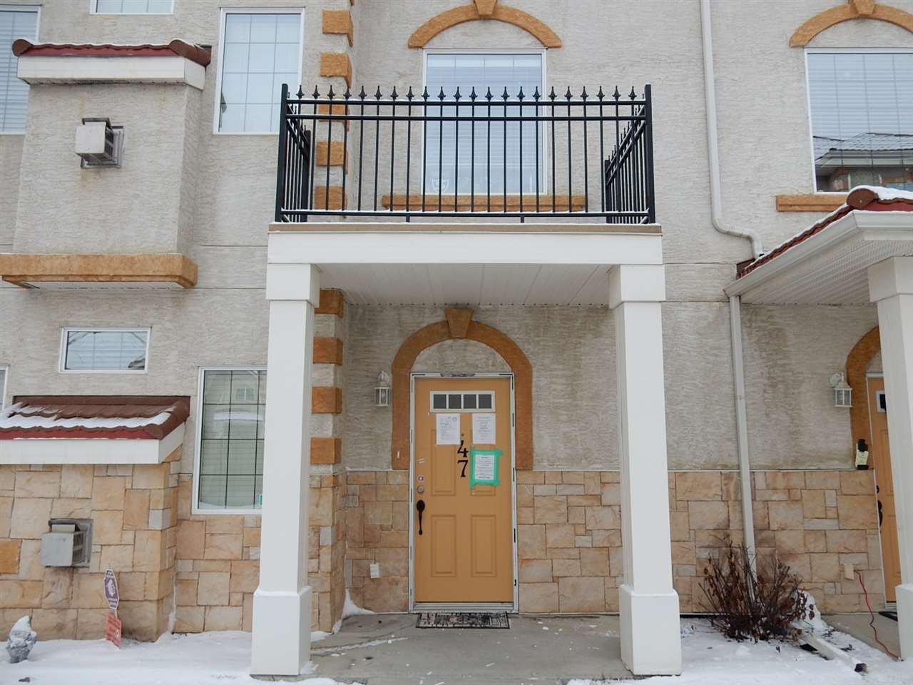Main Photo: 47 13825 155 Avenue in Edmonton: Zone 27 Townhouse for sale : MLS®# E4185619