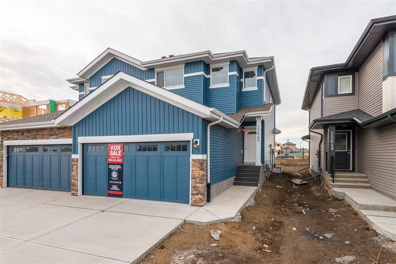 Main Photo: 20645 94A Avenue in Edmonton: Zone 58 House Half Duplex for sale : MLS®# E4177498