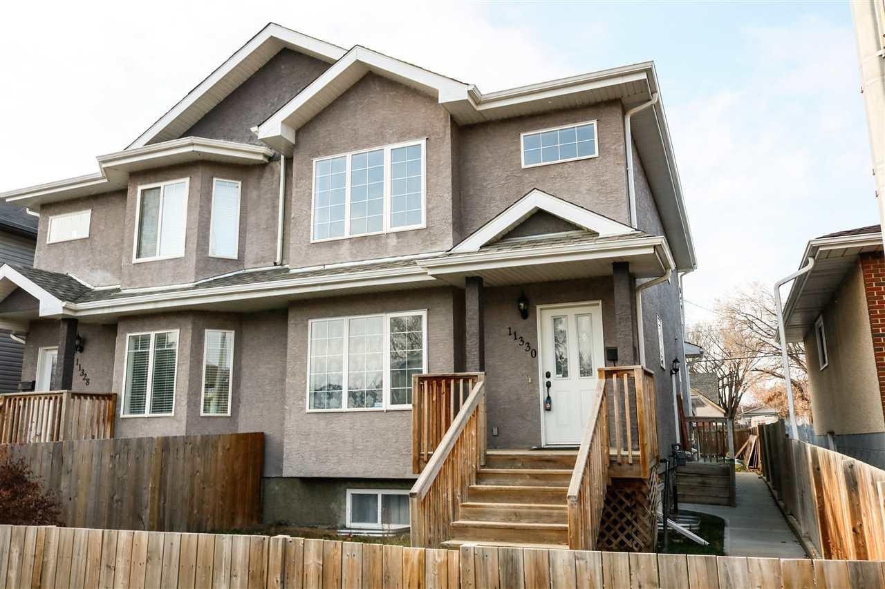 Main Photo: 11330 86 Street in Edmonton: Zone 05 House Half Duplex for sale : MLS®# E4180621