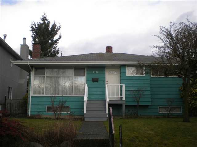 "Main Photo: 2131 SCARBORO AV in Vancouver: Fraserview VE House for sale in ""FRASERVIEW"" (Vancouver East)  : MLS®# V926935"